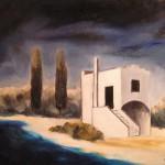 Casale in maremma olio su tela 50 x 60