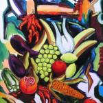 Cesto di frutta olio su tela 50 x 70