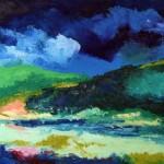 Paesaggio umbro olio su tela 30 x 40