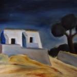Sardegna carloforte olio su tela 35 x 50