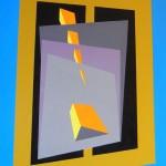 astratto geometrico acrilico 50 x 70