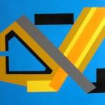 astratto geometrico acrilico 50x70