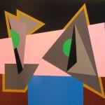 astratto geometrico acrilico 60x80