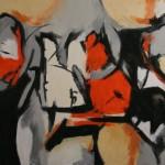 Astratto olio su tela 70 x 100