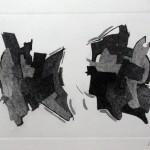 Composizione astratta acquaforte acquatinta 19,6 x 29,4