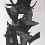Composizione astratta acquaforte acquatinta 198 x 294