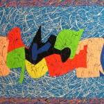 Composizione astratta acrilico 70 x 100
