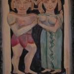 Gli sposi olio su tela 60 x 80