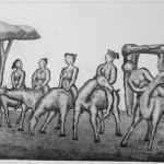 L'armata brancaleone acquaforte acquatinta 20,5 x 29,1