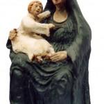 Madonna col bambino terracotta h cm 45