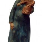 Madonna col bambino terracotta h cm 46