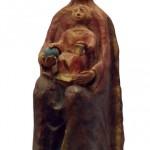 Madonna col bambino terracotta h cm 48