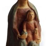 Madonna col bambino terracotta h cm 50