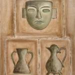 Maschera e peltri 40 x 50 olio su tela