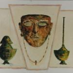 Maschera e peltri 50 x 60 olio su tela