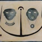 Maschere arcaiche 70 x 90 olio su tela