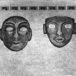 Maschere misteriose ceramolle acquatinta 23,7 x 31,7