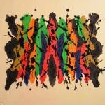 Meteore olio su tela 50 x 60