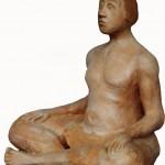 Riflessione terracotta h cm 38