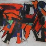 Rosso e nero olio su tela 30 x 40