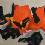 Rosso e nero olio su tela 70 x 100