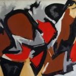 Senza titolo olio su tavola 57 x 78