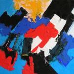 Senza titolo olio su tela 40 x 50