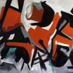 Senza titolo olio su tela 70 x 100