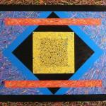 Composizione astratta acrilico 80 x 100