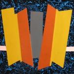 Astratto geometrico acrilico 30 x 40