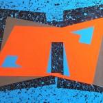 Astratto geometrico acrilico 60 x 80